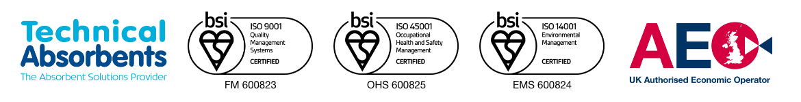 Technical Absorbents and BSI Logos